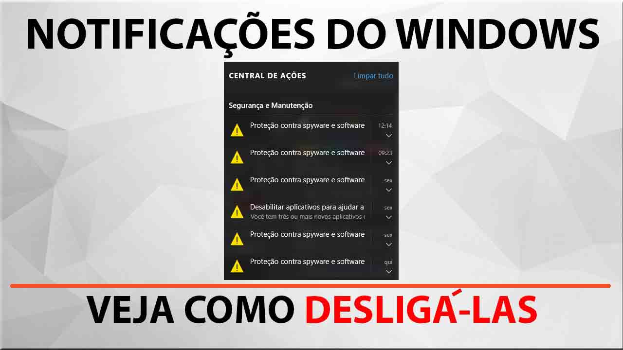 Como desligar as notificações do Windows 10